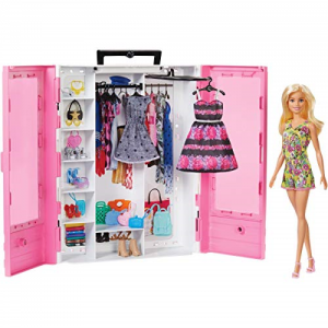 BARBIE FASHIONISTAS ULTIMATE CLOSET PORTABLE FASHION TOY WITH DOLL, CLOTHING,