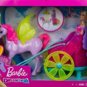 BARBIE DREAMTOPICA DOLL OF PIXIE WITH CARRIAGE WITH HORSE OF FANTASIA